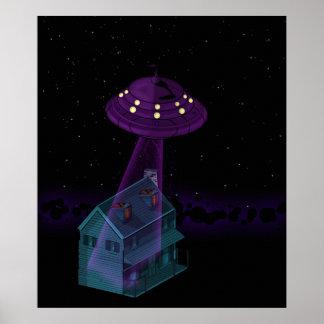 ¡ATAQUE DEL UFO!! POSTER