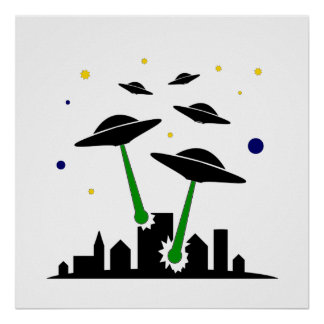 Ataque del UFO Póster