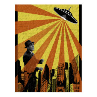 Ataque del UFO Postales