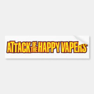Ataque del Vapers feliz Pegatina De Parachoque