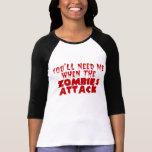 Ataque del zombi camiseta
