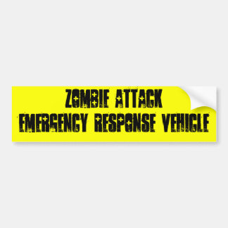 Ataque del zombi pegatina para auto