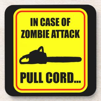 Ataque del zombi posavasos de bebida