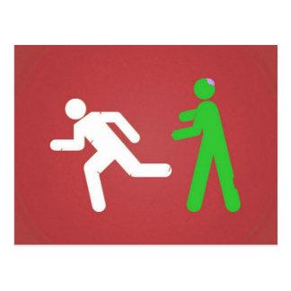 Ataque del zombi postales