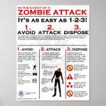Ataque del zombi - poster 1-2-3