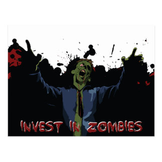 ¡Ataque del zombi! Tarjetas Postales