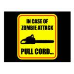 Ataque del zombi tarjeta postal