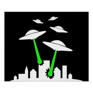 Ataque extranjero del UFO Impresiones