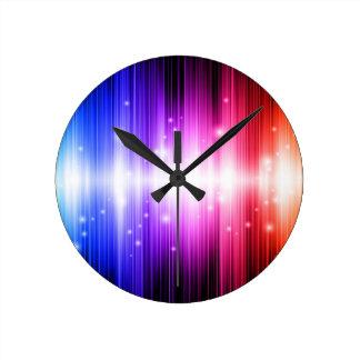 ataque loco del color de la aureola reloj redondo mediano