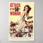 Ataque posters de Woman de 50 pies de los 1958) (