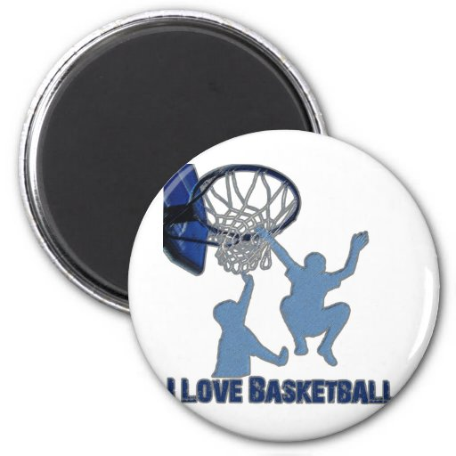 Ataque rápido de ILoveBasketball Imán Redondo 5 Cm