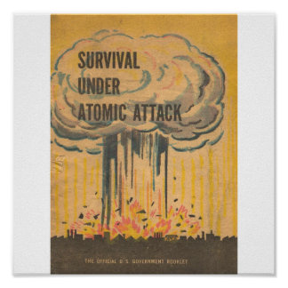 Ataque rAtomic de Unde de la supervivencia Póster