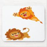 ¡Ataque repentino y saltado!! Leones Mousepad del  Alfombrilla De Raton