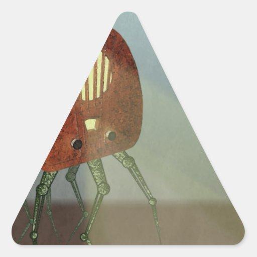 Ataque retro calcomanías trianguloes