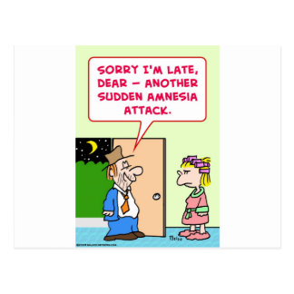 ataque súbito de la amnesia postal