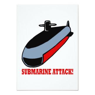 """Ataque submarino invitación 5"""" x 7"""""""