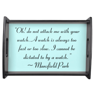 Ataqúeme con su cita de Jane Austen del reloj Bandejas