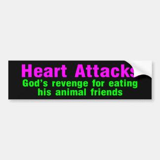 ataques del corazón etiqueta de parachoque