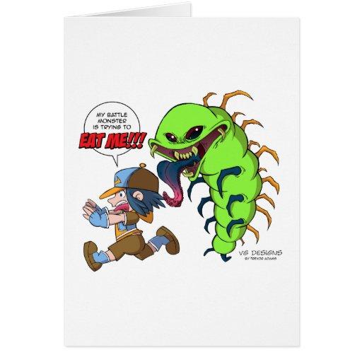 Ataques del monstruo de la batalla (instructor del tarjeta de felicitación