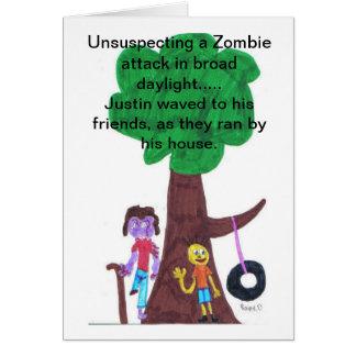 Ataques del zombi de la luz del día tarjeta de felicitación