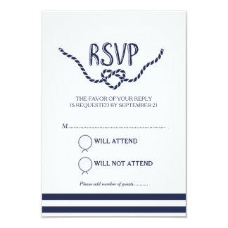 """Atar la caligrafía RSVP del nudo Invitación 3.5"""" X 5"""""""