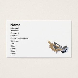Atar las zapatos tenis tarjeta de negocios