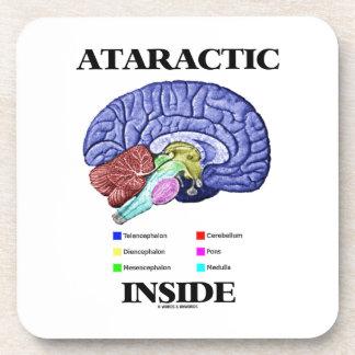 Ataractic Inside (Brain Anatomy Humor) Coaster