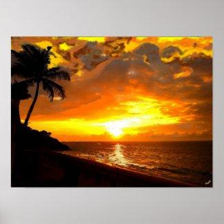 Atardecer Caribeño Canvas Print print