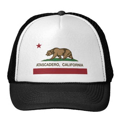 atascadero de la bandera de California Gorros