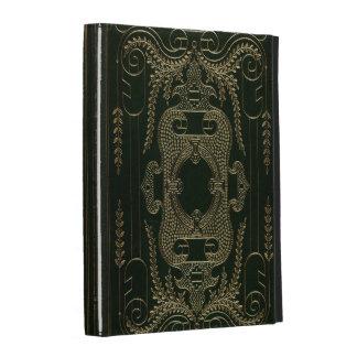Atascamiento de libro de cuero antiguo