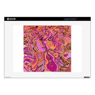 Atasco chillón de la música rosada calcomanías para portátiles
