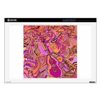 Atasco chillón de la música rosada portátil 43,2cm skins