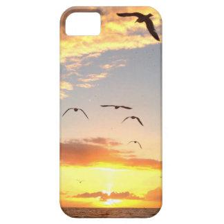 Atasco de la puesta del sol funda para iPhone 5 barely there