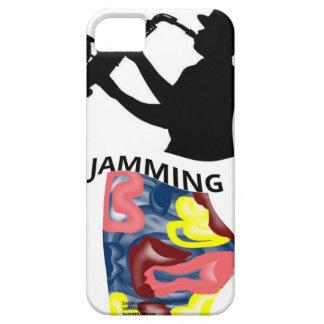Atasco del saxofón de la natación iPhone 5 fundas