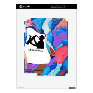 Atasco del saxofón del gallo iPad 2 skins
