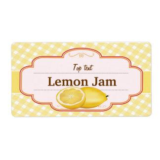Atasco tradicional del limón del estilo de la jale etiqueta de envío