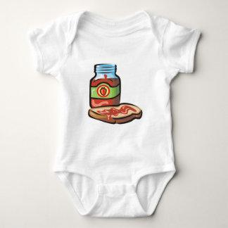 atasco y tostada de la jalea de la fresa body para bebé