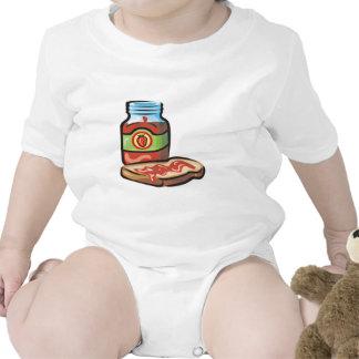 atasco y tostada de la jalea de la fresa trajes de bebé