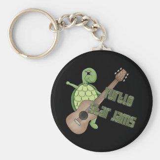 Atascos de la estrella de la tortuga llavero personalizado