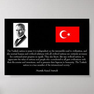 Ataturk - en Turquía y sociedad internacional Póster