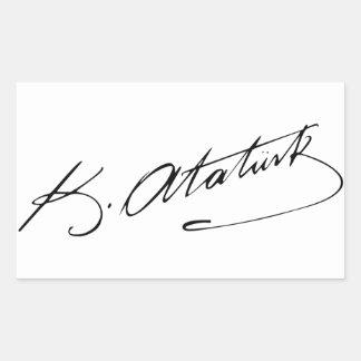 Ataturk Rectangular Sticker