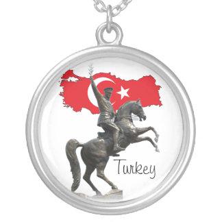 Ataturk - Turkey Silver Plated Necklace