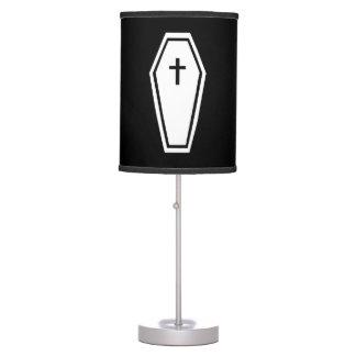 Ataúd de la condenación lámpara de mesilla de noche