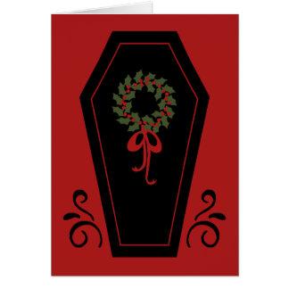 Ataúd del día de fiesta del vampiro tarjeta de felicitación