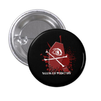 Ataúd del ojo de Pussing [BOTÓN] Pin Redondo 2,5 Cm