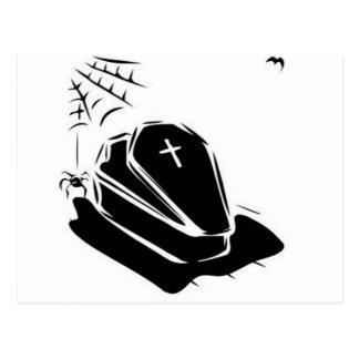 Ataúd del vampiro tarjeta postal