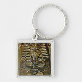 Ataúd íntimo de Tutankhamun Llavero Cuadrado Plateado