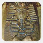 Ataúd íntimo de Tutankhamun Calcomania Cuadrada Personalizada