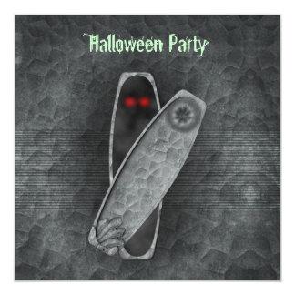 Ataúd - invitación de Halloween