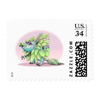 """ATAZA CUTE MONSTER POSTAGE STAMP Small 1.8"""" x 1.3"""""""